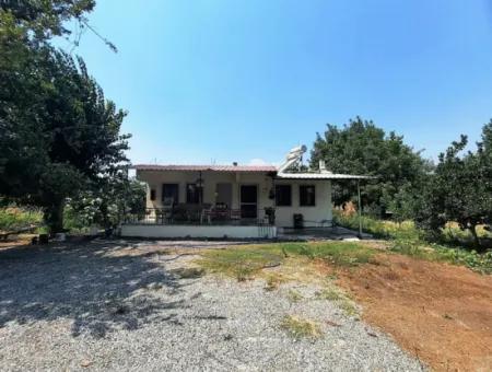 Muğla Ortaca Dalyanda 1534 M2 Arsada Tek Katlı Müstakil Ev Satılık