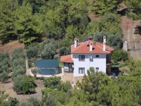 Köyceğiz Ekincikte Deniz Manzaralı Villa Satılık
